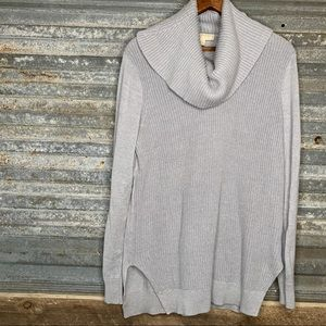 Michael Kors cowl neck gray sweater